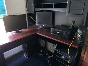 Corner Desk with Hutch for Sale in Davie, FL