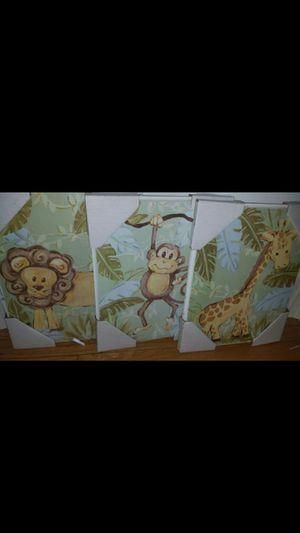 Jungle animals nursery/room decor for Sale in Lemont, IL