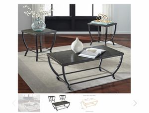 ASHLEY Coffee Table, 2 End Tables & 2 Lamps for Sale in San Jose, CA