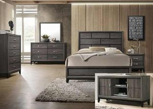 BRAND NEW TWIN FULL QUEEN BEDROOM SET INCLUDES BED FRAME DRESSER MIRROR AND NIGHTSTAND ADD MATTRESS ALL NEW FURNITURE BY USA MEXICO FURNITURE 3OH for Sale in Pomona, CA