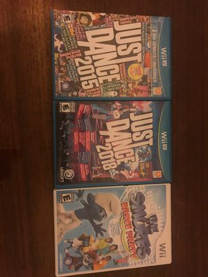 Just dance 2015 and 2018 Nintendo Wii U for Sale in Mesa, AZ
