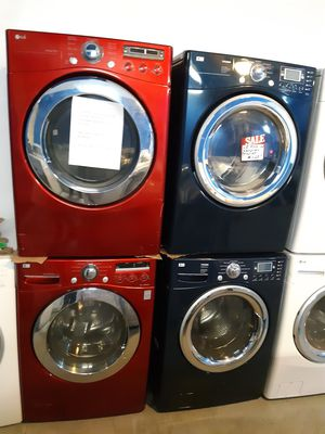 LG FRONT LOAD WASHER AND DRYER SET WORKING PERFECTLY 4 MONTHS WARRANTY for Sale in Baltimore, MD