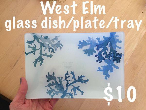 West Elm glass dish / tray