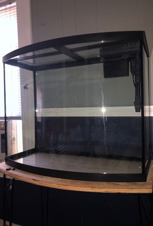 Big aquarium everything included chemicals pumps filters rocks led lights for Sale in Wilmington, MA