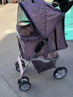 New Pink Pet Stroller Cat/Dog Easy to Walk Folding Travel Carrier Carriage, for Sale in Long Beach,  CA