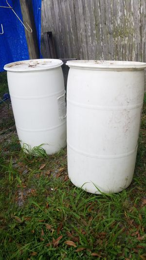 2 New 55 Gal drums with tops for Sale in Palm City, FL