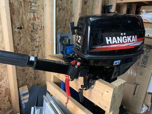 Hangkai 12hp outboard motor 2 stroke water cool CDI 169cc for Sale in Kent, WA