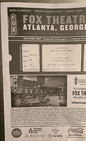 🎤 The Avett Brothers 🎤 2 Tickets = $150 🎤 Section: Orchestra 🎤 I will gladly meet at police station 🎤 for Sale in Stockbridge, GA