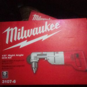 Milwaukee 7 Amp Corded 1/2 in. Corded Right-Angle Drill Kit with Hard Case for Sale in Kent, WA