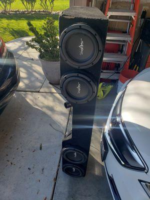 4 skar audio 8s for 2007-2013 Silverado underseats for Sale in Tracy, CA