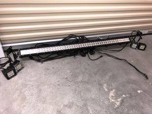 "50"" Rough Country Light-Bar. 100 individual LED lights. With the (4) Rough Country spot lights for Sale in Columbus, OH"