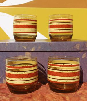 Set of vintage mid century tumblers for Sale in Santa Fe, NM