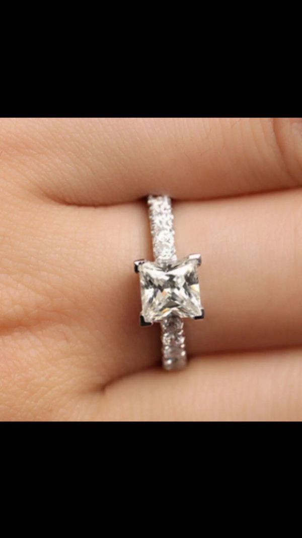 .72ct stimulates diamond gold plated wedding engagement ring women's jewelry accessory size 8.5