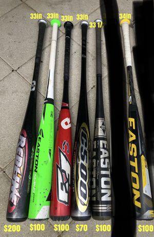 Baseball bats equipment gloves Easton demarini tpx marucci bates Nike for Sale in Culver City, CA