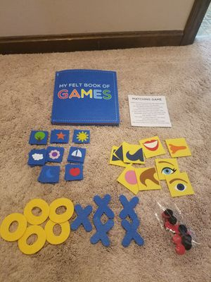 Felt book of games for Sale in Taunton, MA