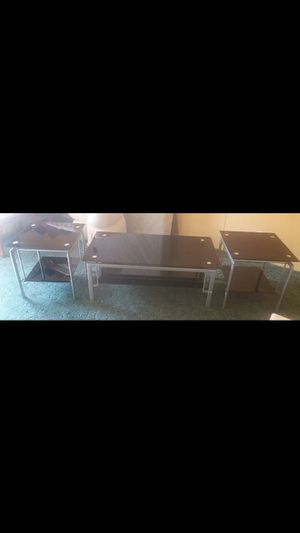 Tempered glass coffee and end tables for Sale in Lake Wales, FL
