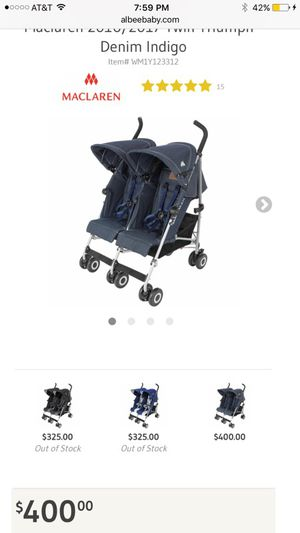 Maclaren double stroller for Sale in Winston-Salem, NC