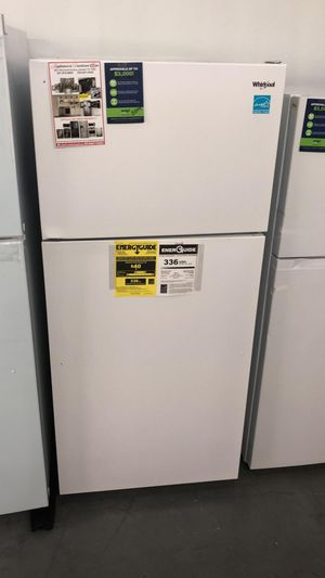 New Whirlpool 16 cu. Ft. Top Freezer Refrigerator - White for Sale in Houston, TX