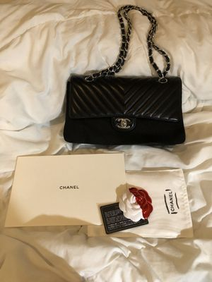 Chanel chevron medium black bag for Sale in Houston, TX
