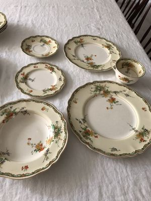 35 piece antique old Staffordshire Johnson brothers England china for Sale in Kirkwood, NJ