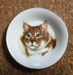 """5 1/4"""" Cat plate with gold rim. Bone china. Made in England. for Sale in San Luis Obispo, CA"""