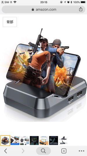 BEBONCOOL BEBONCOOL BattleDock Mobile Game Controller Keyboard and Mouse Converter for PUBG Mobile Android Tablet Games for Sale in Wausau, WI