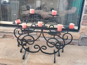 Black iron candle set for Sale in Las Vegas, NV