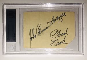 JOHN CAMERON SWAYZE SIGNED CUT AUTOGRAPH SLABBED BECKETT COA for Sale in Carnegie, PA
