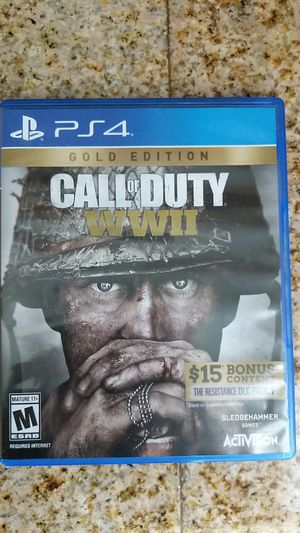 PS4 Call of Duty WWII (Gold Edition) for Sale in Las Vegas, NV