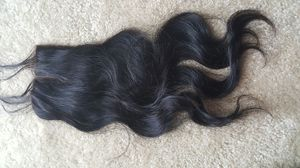 """12"""" Brazilian human hair bodywave lace closure middle part with baby hair for Sale in Cheverly, MD"""
