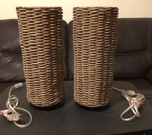 Wicker hanging lamps for Sale in Kingsburg, CA