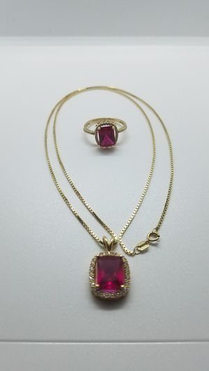 14k gold chain and ring for Sale in Glendale, AZ