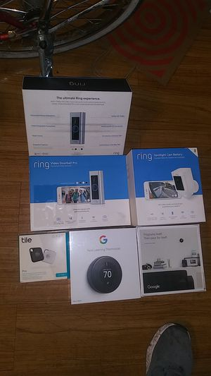 Nest, ring doorbell cam and outdoor security cam for Sale in Seattle, WA