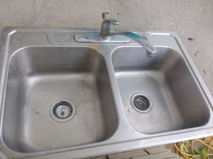 Stainless steel sink and facet for Sale in Tarpon Springs, FL