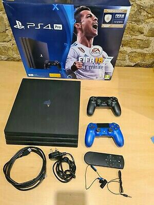 Sony PlayStation 4 pro 1TB console-Black with controllers for Sale in DC, US