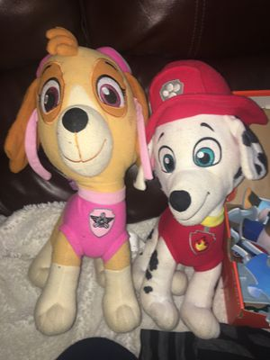 Paw Patrol Lot for Boy or Girl Plushies Floor puzzle not the shorts for Sale in East Providence, RI