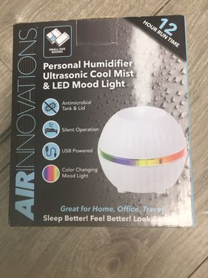 Personal Humidifier Ultrasonic Cool Mist and LED Mood Light for Sale in Seminole, FL