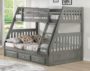 Twin over full Bunk Bed (Delivery and assembly included) for Sale in Winter Park, FL