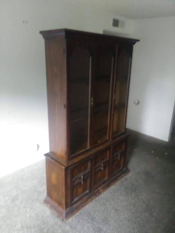 Antique 2 piece China cabinet