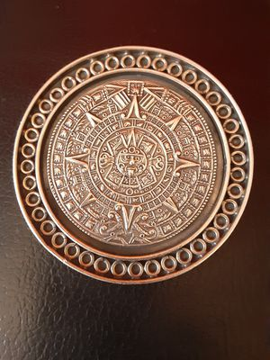 Silver aztec calendar for Sale in San Leandro, CA