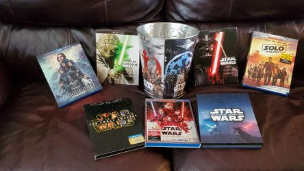 Star Wars Collection and Popcorn Tin for Sale in Grandview,  WA