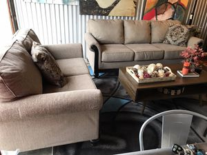 USED-2 piece sofa set ONLY😍NOT selling separate-No Holds,NO Deliver for Sale in Raleigh, NC