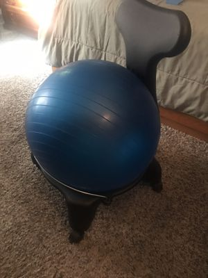 Posture correcting Medicine Ball Exercise chair for Sale in Upland, CA