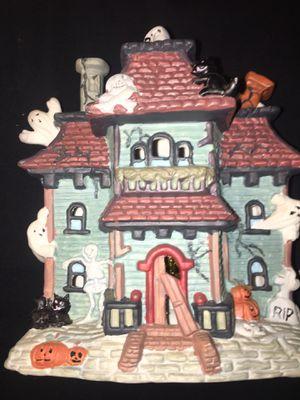 Vintage Porcelain Illuminated Halloween Haunted House for Sale in Warren, MI
