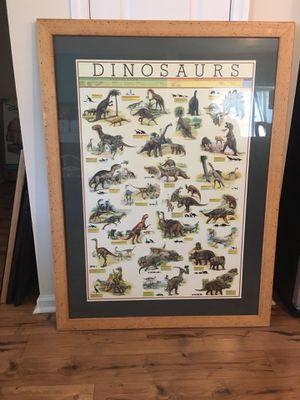 Dinosaur framed print for Sale in Peletier, NC