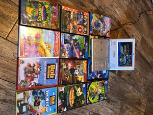 Portable DVD player DVDs young boys ninja turtles, Bob the builder, Legos, justice league for Sale in Stockton, CA