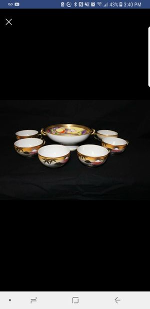 7 Piece Antique Handpainted Nippon Tea Set Circa 1911 for Sale in Portland, OR