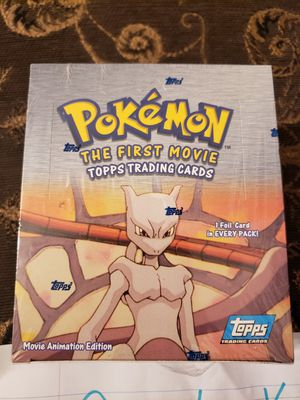 Pokemon First movie topps booster box for Sale in Fresno, CA