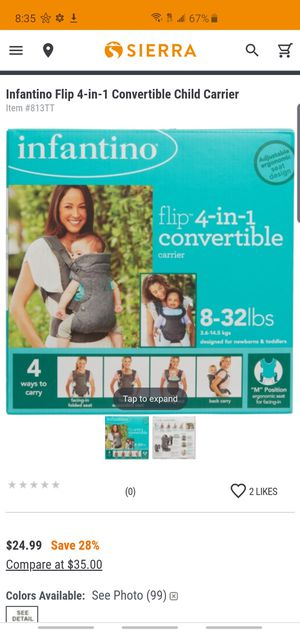 Infantino Baby Carrier for Sale in Dallas, GA