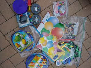 Birthday party decorations plates and napkins for Sale in Fort Myers, FL